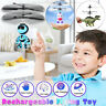 Rechargeable Mini LED Hand Control Infrared Induction Flying Robot  Helicopter