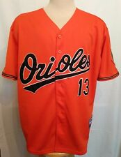 Baltimore Orioles MLB #13 Machado Majestic S/S Orange Baseball Jersey Size 52