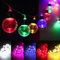 10M 20 LED Globe Patio Outdoor Fairy String Light Clear Bulb Chirstmas
