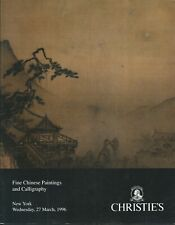CHRISTIE'S CHINESE PAINTINGS CALLIGRAPHY Lin Fengmian Dong Qichang Catalog 1996