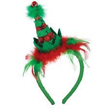 Navidad Lentejuelas Gorro Diadema Elfo de Papá Noel Ayudante Campana Jingle