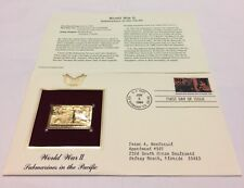 World War II Submarines in the Pacific Stamp, June 6, 1994 FDC and 22kt gold