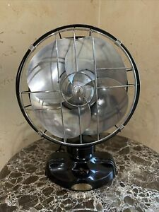 Vintage Emerson 12 Inch Silver Swan Fan Art Deco 1930s 3 Speed