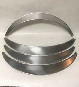 "Universal Metal Fender Flares Style 1: 2.5"" Wide, 4 total (hand-made)"