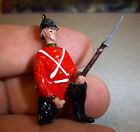 Hand made & painted Lead soldier infantryman approx 1.5 inches tall- red uniform