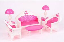 Doll Furniture Dream House 7Pcs Toys  Sofa Chair Couch Desk Lamp Furniture