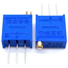 5pcs 3296w 1 Multi Turn Potentiometer Adjustable Resistance 10 500 1510k 2m