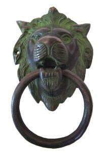 ANTIQUE Style Brass DOOR KNOCKER - LION Style - Fully Brass - BLACK (5247)