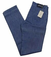 "Brioni Livigno Jeans Handmade in Italy BNWT Luxury Blue Denim Size 38"" £410"