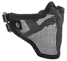 2G Strike Steel Hi Impact Adjustable Mesh Airsoft Half Mask Face Protector Black