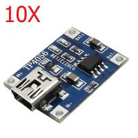 10pcs TP4056 1A Lipo Battery Charging Board Charger Module Mini USB Interface
