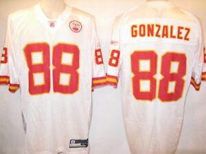 Tony Gonzalez Kansas City Chiefs Small White 2008 Reebok Replica Jersey