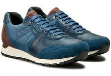 GEOX EMILDON U641RC scarpe uomo pelle camoscio sneakers casual interactive mens
