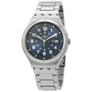 Swatch Blue Boat Stainless Steel Men's Watch YWS420G