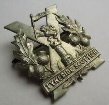 TYNESIDE SCOTTISH - ORIGINAL WW1 1915 CAP BADGE
