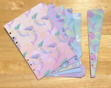 Filofax A5 Organiser Planner - Cute Mermaid & Shell Dividers - Fully Laminated