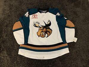 Manitoba Moose Reebok Edge 2.0 Authentic AHL Luc Bourdon Jersey NHL Canucks