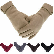 Women Winter Fleece Lined Velvet Thermal Warm Gloves Touch Screen Mittens LADIES