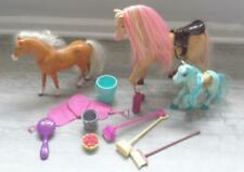 Matttel Barbie Shower Show Tawny Ponies Accssories Saddle Lot