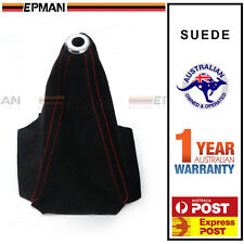 EPMAN Gear Boot Shifter Boot Cover Black Suede With Red Stitch Skyline WRX EVO