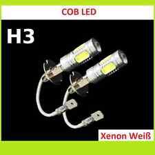 2x Show Rennsport Xenon-Weiß Power COB LED Nebelscheinwerfer Birne H3 Peugeot