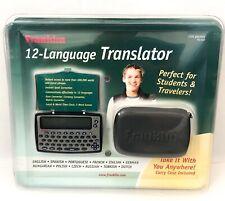New Franklin 12-Language Translator Tg-450 w/ Carrying Case Students & Travelers