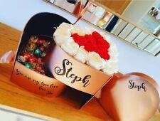 Rose Gold Heart Flower Gift Box