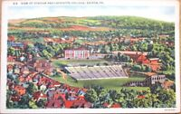 1940s Easton, PA Linen Postcard: Football Stadium/Lafayette College-Pennsylvania