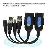1 Pairs CCTV Coax BNC Video Power Balun Transceiver to CAT5e 6 RJ45 Connector Kn