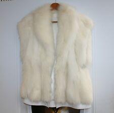 Vintage Ivory Sheep Fur Vest SIZE 42 LARGE