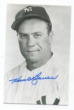 Autographed Rowe Postcard of Yankees Hank Bauer