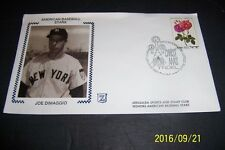 NEW YORK Yankees JOE DiMAGGIO Jerusalem Sports show Silk Cachet 1st DAY COVER