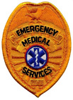 EMS Emergency Medical Services Sheild Patch Gold Color-Sewn On #5361