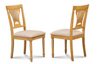 SET OF 2 KITCHEN DINING SIDE CHAIR W/. SOFT-PADDED SEAT IN OAK FINISH