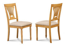 SET OF 6 KITCHEN DINING SIDE CHAIR W/. SOFT-PADDED SEAT IN OAK FINISH