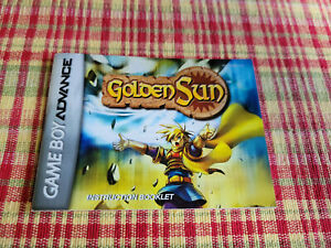 Golden Sun - Authentic - Nintendo Game Boy Advance - Manual Only!