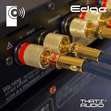 4 x Hi-Fi connettori a banana (Spina Placcato Oro 4mm per Altoparlante & Amplificatore Cavo) BP1