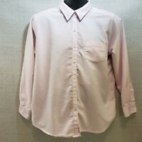 Cabin Creek Pink Woman's Oxford LS Blouse Size 12P Wrinkle Free Stain Release