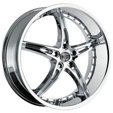 4-NEW 2Crave N-14 18x7.5 5x112 +35mm Chrome Wheels Rims