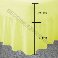 Fitted Valance Bed Sheets Double Single Super King Size Frilled Superking New
