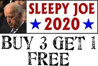 """SLEEPY JOE BUMPER STICKER, Biden Sleep Joe 2020 Bumper Sticker 8.7"""" x 3"""""""