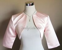 Blush Pink Satin Bolero/Shrug/Jacket/Stole/Shawl/Wrap/Tippet Pleated Neck New