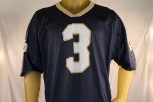 NOTRE DAME #3 JOE MONTANA CHAMPION USED BLUE/GOLD FOOTBALL JERSEY SIZE 52/XXL