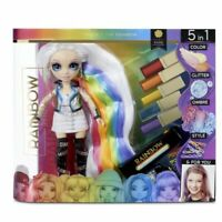 "🌈 AMAYA RAINE 🌈 Rainbow High Hair studio Fashion Doll 11"" 5 in 1 exclusive set"