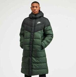 Nike Mens Down Fill Puffer Parka Jacket Long Coat Size M,L
