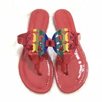 New Tory Burch Rainbow Miller Sandals - Red - Size 8 - Limited Edition