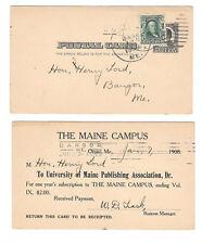 USED TWICE UX19 Maine Campus Publication 1908 Orono Me Bangor Me Barry Cancel