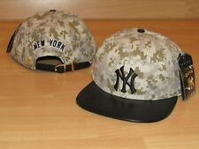 d7bbd380a0b3f New York Yankees Pro Standard Leather Digital Camo Flag Strapback hat cap  Men s