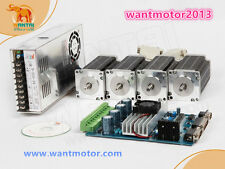 US Free!4Axis wantai motor Nema23 57BYGH627 270oz-in 3A 4-Lead+Board CNC Router