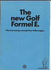 VW VOLKSWAGEN GOLF FORMEL E SALES BROCHURE 1981 1982
